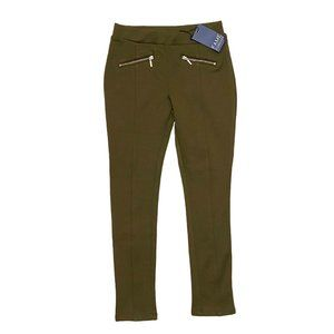 NEW Fame Forever Olive Green Treggings with Gold Zip